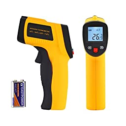 Tsing Digital Infrared (IR) Thermometer, with Laser Sight and Instant-read Temperature Gun (Battery Included)