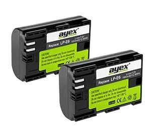 2 x ayex Li-Ion Akkus für Canon EOS 60D,70D, 7D, 6D, 5D Mark III
