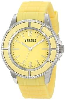 buy Versus By Versace Women'S 3C61300000 Tokyo Yellow Dial Rubber Watch