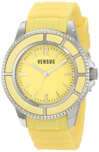 Versus by Versace Women's 3C61300000 Tokyo Yellow Dial Rubber Watch