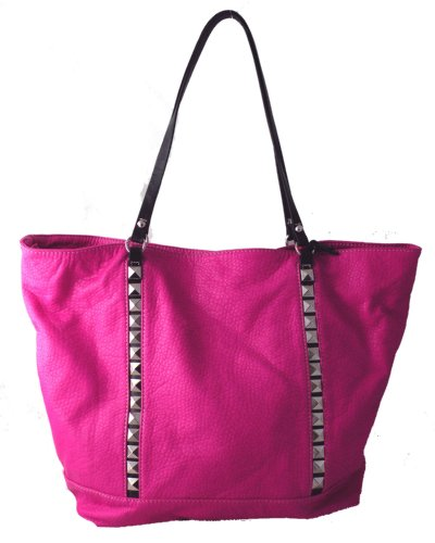 Red by Marc Ecko Double Pyramid Tote Raspberry