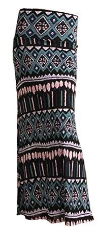 Gravity Threads Pattern Women's Poly Span Maxi Vintage Vintage Tribal Blue M