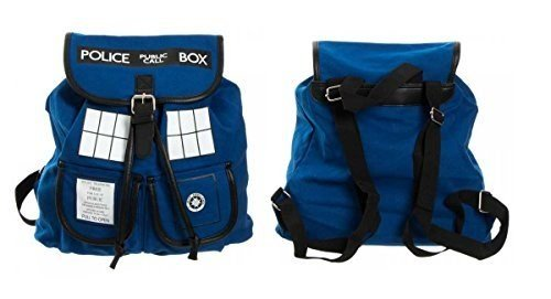 Doctor Who Dr. Blue Tardis Knapsack Backback