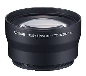 Canon TC-DC58D Tele Converter Lens for Canon G10 and G11 Digital Camera-requires LA-DC58K Lens Adapter