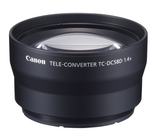 Canon TC-DC58D Tele Converter Lens for Canon G10 and G11 Digital Camera (requires LA-DC58K Lens Adapter)