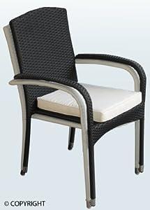 lounge stuhl polyrattan stuhl starnberg inkl sitzkissen stapelbar garten. Black Bedroom Furniture Sets. Home Design Ideas