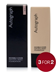 Autograph SPF 15 Invisible Cover Natural Finish Foundation 30ml