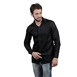 Akaas Men's Formal Shirt_COMBOS OF 2_(BLACK&BLUE)