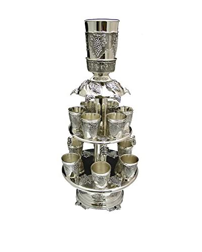 Legacy Judaica Silver Plated Fountain with 12 Cups