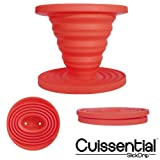 Cuissential SlickDrip - Collapsible Silicone Coffee Dripper, Filter Cone