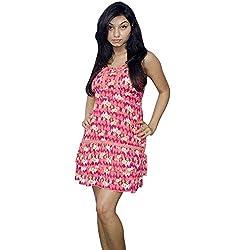 Atulya Women's Dress (ATOP01P_Fuchsia_Medium)