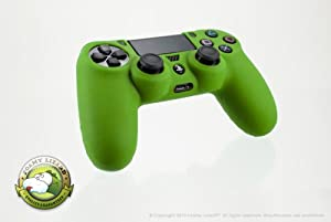 Playstation 4 Controller Skin by Foamy Lizard (TM) ChameleonSkin (Individual) Premium Protective Anti-slip Silicone Grip Case Cover For Wireless PS4 Controller (Acid - Green)