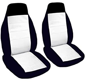 Amazon 2 Black And White Car Seat Covers For A 2002