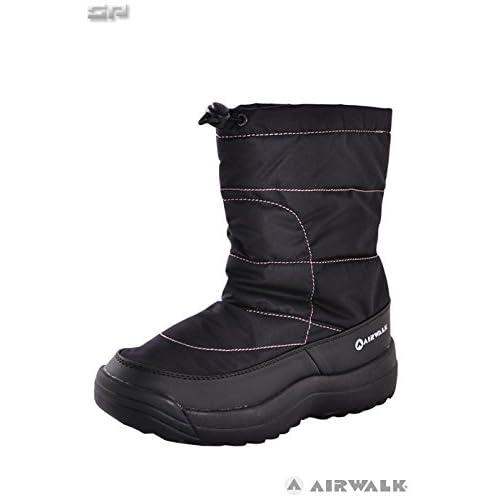 AIR WALK(エアウォーク)レディース スノーブーツ スパイク付き AWSNB-26 ブラック 24.0