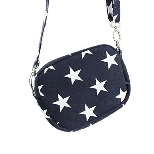Vovotrade® Borsa a tracolla donne mini messaggero tracolla della borsa (Blu scuro)