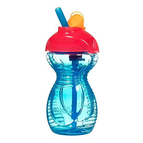 Munchkin Click Lock Flip Straw Cup - 9Oz (Blue) front-443012