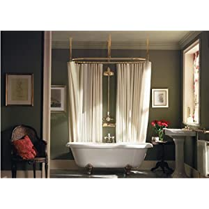 Shower Curtain Track | Ceiling Mount Curtain Tracks - Curtain Tracks