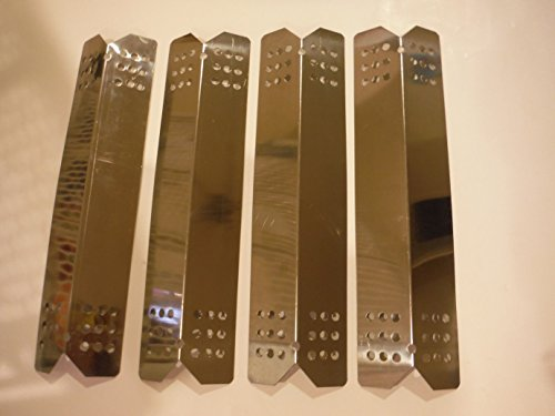 Set of 4 Stainless Steel Heat Plates (14-9/16 inches by 3 3/4 inches, each 6.2 Oz) for Select Grill Master and Uberhaus Gas Grill Models.
