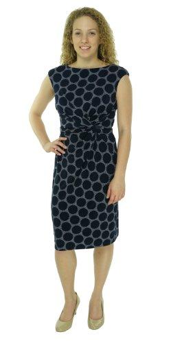 Lauren Ralph Lauren Women'S Petite Sleeveless Dress Navy/Col 4P
