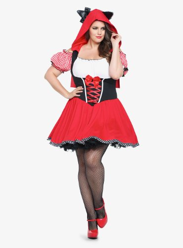 Torrid Plus Size Leg Avenue - Red Riding Wolf Costume Dress