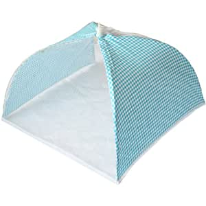 Blue Gingham & Lace Fold Away Food Cover