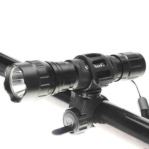 Qich 360 Bike Bicycle Cycle Flashlight Torch Mount LED Head Front Light Clamp Holder Clip