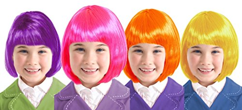 Costume Adventure Neon Color Costume Wigs For Kids Child Costume Wigs For Kids
