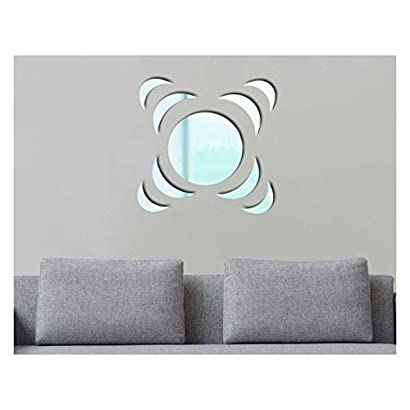 Stickers rond lune miroir xl deco soon sa147 for Miroir rond xl