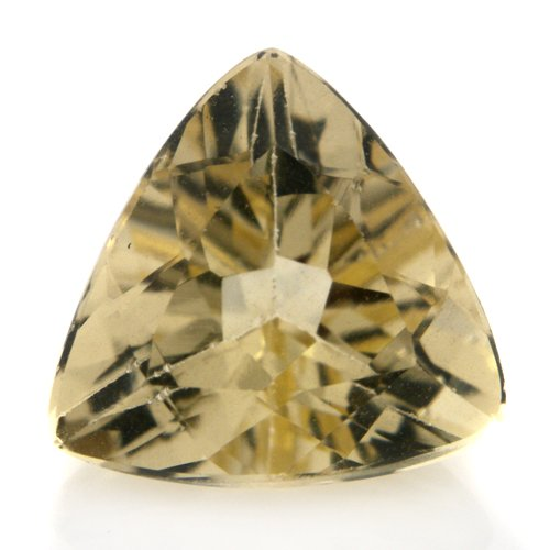 Natural Yellow Beryl Loose Gemstone Trillion Cut 2.95cts 10mm VS Grade Marvelous