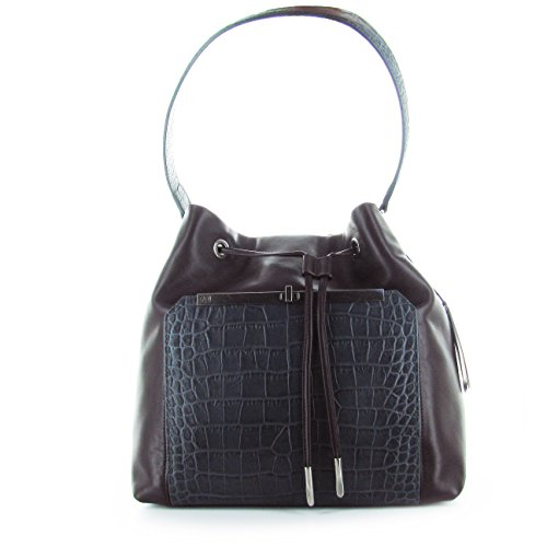 CAVALLI SHOPPING BAG BROWN BORSA A SPALLA MARRONE E GRIGIA