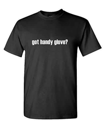 Got Handy Glove? - Mens Cotton T-Shirt, M, Black