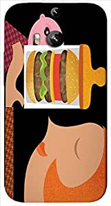 Timpax protective Armor Hard Bumper Back Case Cover. Multicolor printed on 3 Dimensional case with latest & finest graphic design art. Compatible with HTC M8 Design No : TDZ-24141