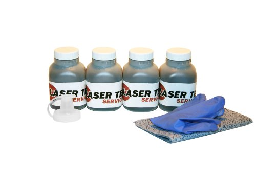 4 Pack Brother TN-350 TN350 Toner Refill Kit by Laser Tek Services