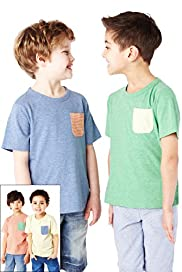 4 Pack Pure Cotton Short Sleeve T-Shirts