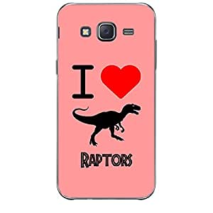 Skin4gadgets I Love Raptors Colour - Indian Red Phone Skin for SAMSUNG GALAXY J1