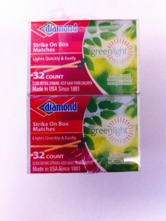 Best Prices! 10 Pack - GreenLight Diamond Strike on Box 32 Count Matches