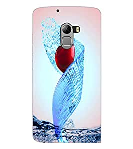 PrintDhaba Heart D-3448 Back Case Cover for LENOVO K4 NOTE A7010 (Multi-Coloured)