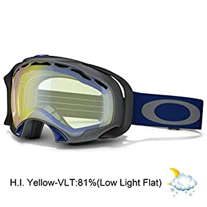 Oakley Splice Masque de ski et snow Gunmetal Grey (Navy) H.I. Yellow
