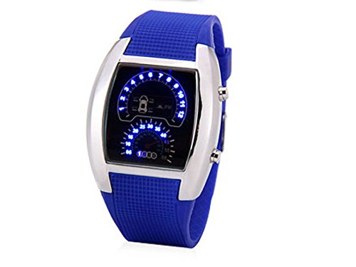 Egoodbest Luxury Led Newest Car Watch With Digital Indicate Day Date And Rubber Watchband