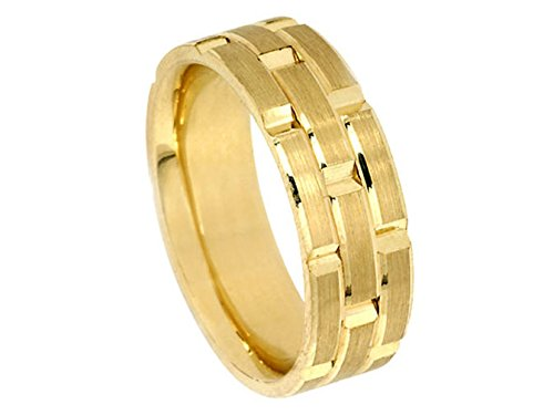 Men's 18K YELLOW GOLD ROLEX INSPIRED 8.5mm COMFORT FIT WEDDING BAND men s 18k yellow gold rolex inspired 8 5mm comfort fit wedding band