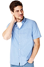 2in Longer Button-Down Collar Checked Shirt
