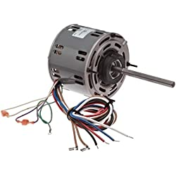 "Fasco D727 5.6"" Frame Open Ventilated Permanent Split Capacitor Direct Drive Blower Motor with Sleeve Bearing, 1/3-1/4-1/5HP, 1075rpm, 115V, 60Hz, 5.9-4.6-3.8 amps"
