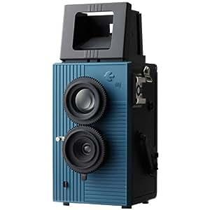 Blackbird Fly 35mm TLR Twin Lens Reflex Camera - Black with Blue Face [Camera]