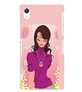 Peaceful Girly Design 3D Hard Polycarbonate Designer Back Case Cover for Sony Xperia Z2 :: Sony Xperia Z2 L50W D6502 D6503