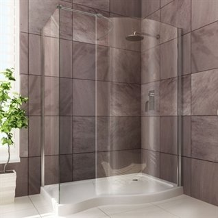 Infinity Curved Walk-In Shower Enclosure Left Hand