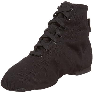 Sansha Soho Lace-Up Jazz Shoe,Black,10 M US Women's/6 M US Men's