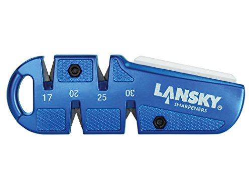 Lansky QuadSharp Carbide/Ceramic Multi Angle Knife Sharpener, Blue