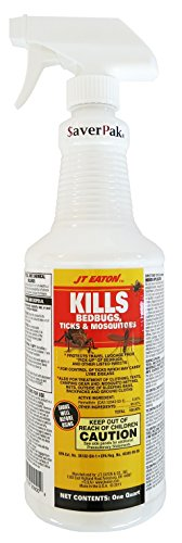$averPak Single - 1 One Quart Bottle of JT Eaton Kills Bedbugs, Ticks & Mosquitoes Permethrin Clothing & Gear Treatment Trigger Spray (Moth Repellent Spray compare prices)