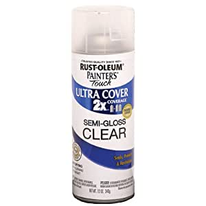 Rust-Oleum 249859 Painter's Touch Multi Purpose Spray Paint, 12-Ounce, Clear
