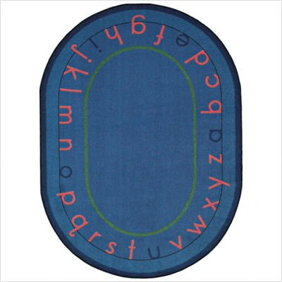 "Joy Carpets Kid Essentials Early Childhood Round Montessori Alphabet Rug, Multicolored, 7'7"" - 1"